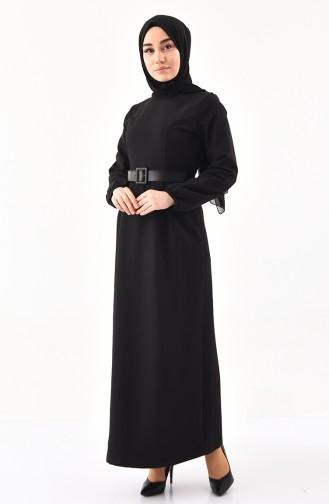 Belted Dress 2051-05 Black 2051-05