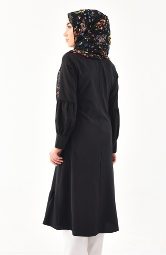 Kravat Yaka Tunik 3042-01 Siyah