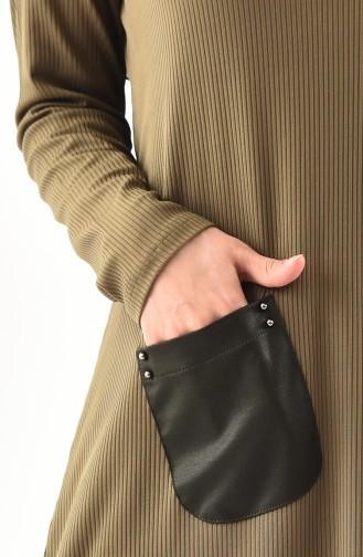 METEX Large Size Pocket Detailed Tunic 1123-03 Khaki 1123-03