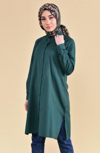 Tunique avec Poche 6350-04 Vert emeraude 6350-04