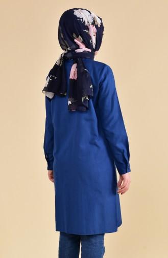Tunique avec Poche 6350-05 Bleu Marine Clair 6350-05