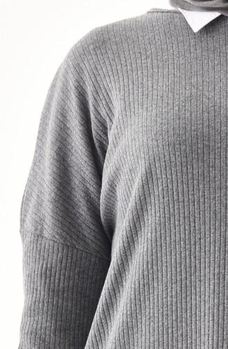 Knitwear Blouse 5450-02 Light Gray 5450-02