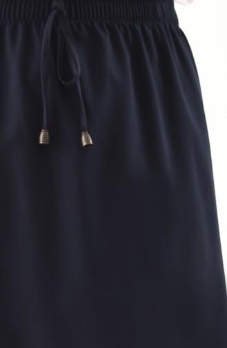 دورون تنورة بتصميم مطاط عند الخصر 1010 E-01 لون كحلي 1010E-01