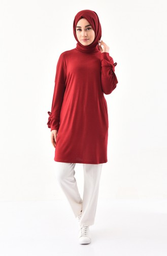 Thin Knitwear Turtleneck Sweater 6093-01 Claret Red 6093-01