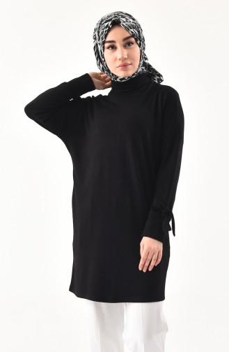 Thin Knitwear Turtleneck Sweater 6093-03 Black 6093-03