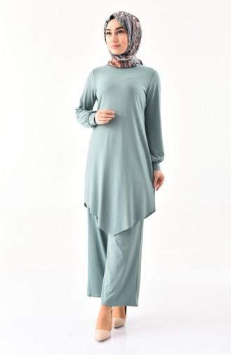 Tunik Pantolon İkili Takım 0304-04 Çağla Yeşili