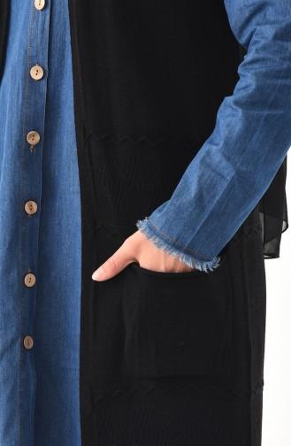 Slim Knitwear Pocket Vest 4124-02 Black 4124-02