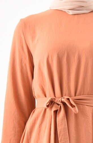 Aerobin Kumaş Tunik Pantolon İkili Takım 0880-04 Soğan Kabuğu