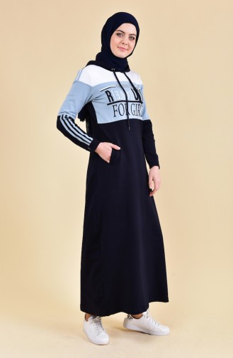 BWEST Pattern Sport Dress 8347-05 Navy 8347-05