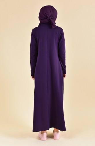 بي وست فستان رياضي بتفاصيل جيوب 9013-05 لون بنفسجي 9013-05