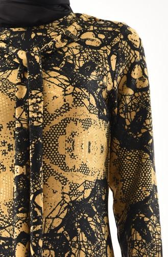 Robe Imprimée 1119-04 Gold 1119-04