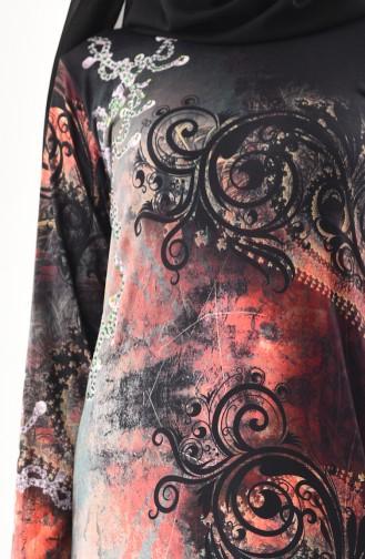 Robe a Motifs 99189-01 Khaki 99189-01