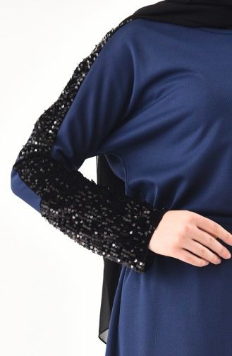 Indigo Hijab Dress 4001-01