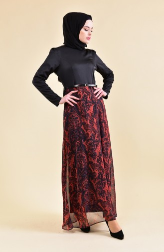 Robe Hijab Bordeaux 8134-01