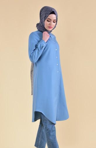 Minahill Pocket Buttoned Tunic 8202-16 Indigo 8202-16