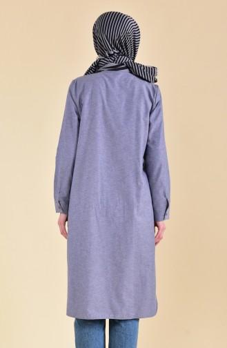 Minahill Slit Tunic 8209-12 Gray Navy Blue 8209-12