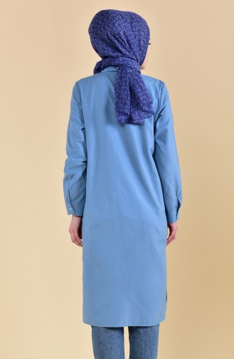 Minahill Slit Tunic  8209-13 Blue 8209-13