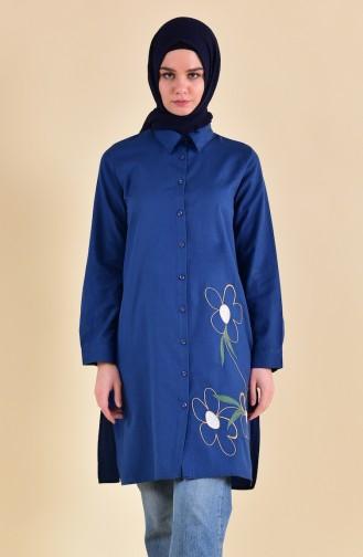 Minahill Embroidered Tunic 8221-04 Indigo 8221-04