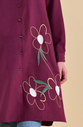 Minahill Embroidered Tunic 8221-07 Plum 8221-07