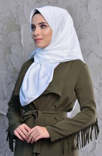 Düz Rayon Eşarp 95245-06 Beyaz