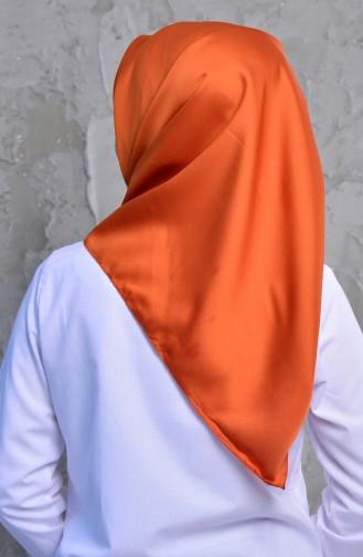 شال رايون بتصميم سادة 95245-10 لون برتقالي 95245-10