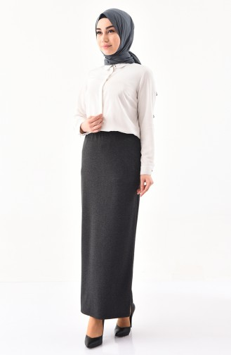 iLMEK Elastic Waist Skirt 5216-01 Smoked 5216-01