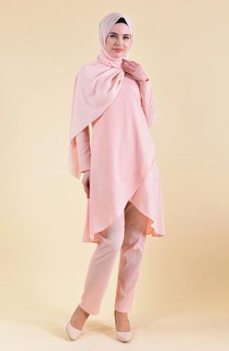 Tunik Pantolon İkili Takım 130022-06 Pudra