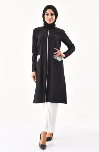ZEN Pocket Detailed Tunic 0215-05 Black 0215-05