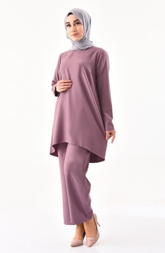 iLMEK Tunic Pants Double Suit 5247-03 Dried Rose 5247-03