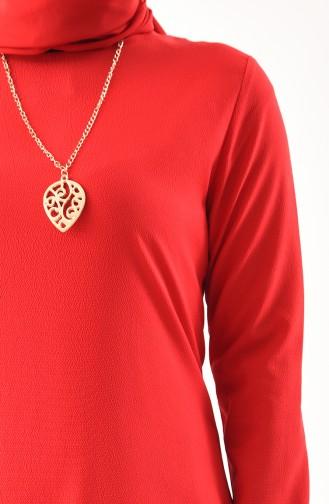 Tunik Pantolon İkili Takım 9013-12 Kırmızı