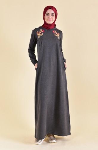 Nakışlı Spor Elbise 8358-03 Antrasit