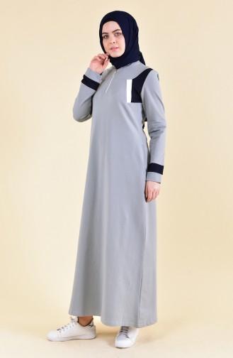 بي وست فستان رياضي بتصميم سحاب 8373-03 لون ازرق 8373-03