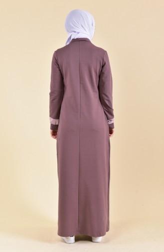 BWEST Zipper Detailed Sports Dress 8373-06 Brown 8373-06