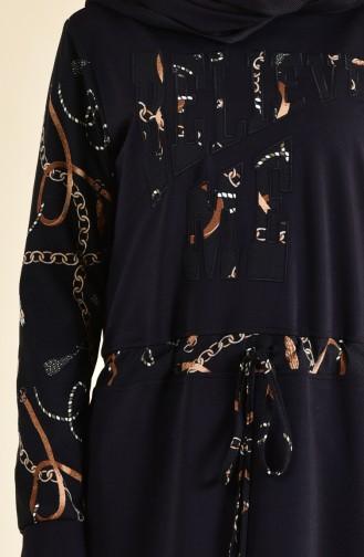 Garnili Spor Elbise 9019-02 Siyah