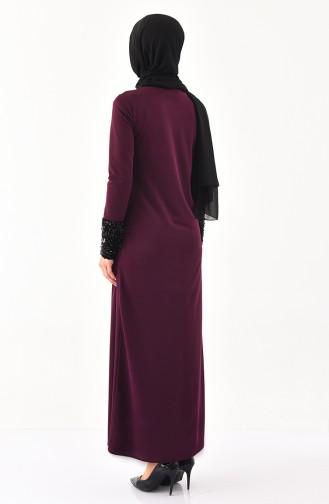 Lila Hijap Kleider 4002-03