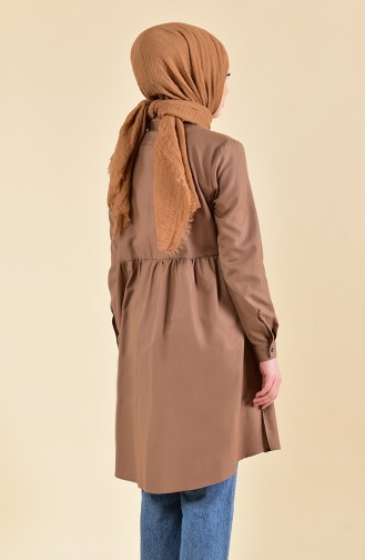 Pleated Waist Tunic 5000-02 Camel 5000-02