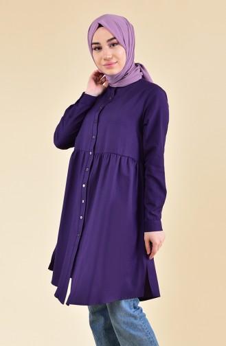 Pleated Waist Tunic 5000-07 Purple 5000-07