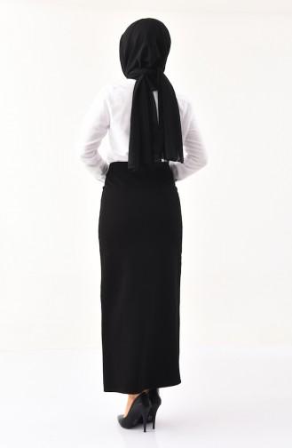 دورون تنورة جبردين بتصميم قصة مستقيمة 8003-01 لون أسود 8003-01