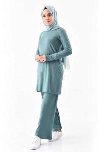 Tunik Pantolon İkili Takım 2143-02 Çağla Yeşili