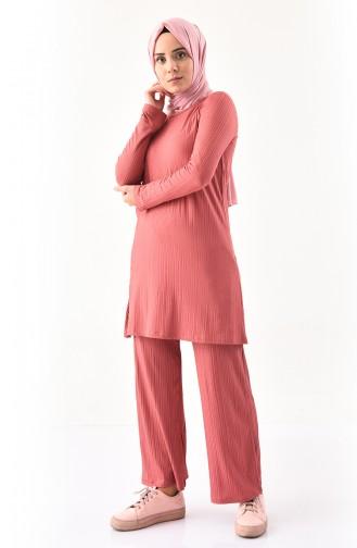 Tunik Pantolon İkili Takım 2143-05 Gül Kurusu 2143-05