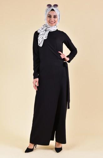 BURUN   Side Binding Jumpsuit 31250-04 Black 31250-04