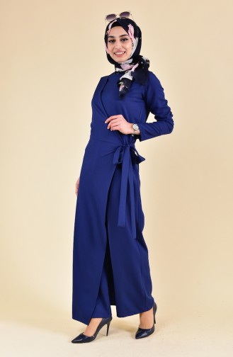 BURUN   Side Binding Jumpsuit 31250-05 Navy 31250-05