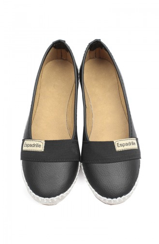Bayan Espadril Babet 94401-1 Siyah