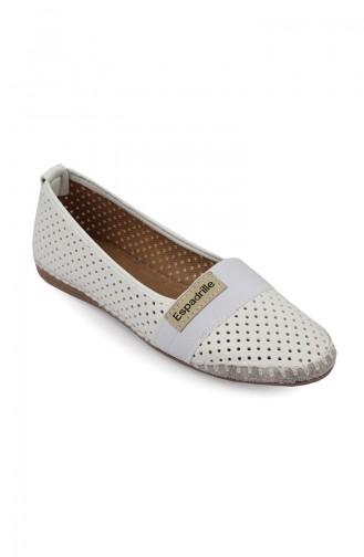 حذاء مسطح أبيض 94500-0