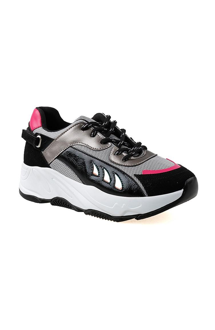 Chaussures 01 62116 Pour Sport Noir Femme Argent Nnwymv80O