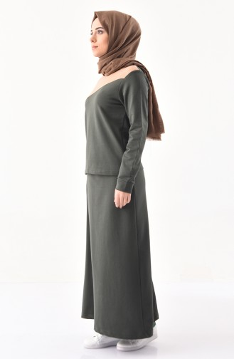 BWEST Sports Blouse Skirt Double Suit 8326-04 Khaki 8326-04