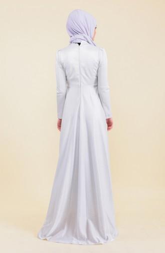 Gray İslamitische Avondjurk 7058-01