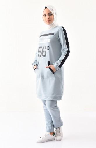 Cepli Eşofman Takım 8390-08 Buz Mavisi