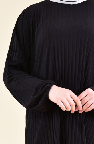 Pleated Tunic Pants Binary Suit 189912-09 Black 189912-09