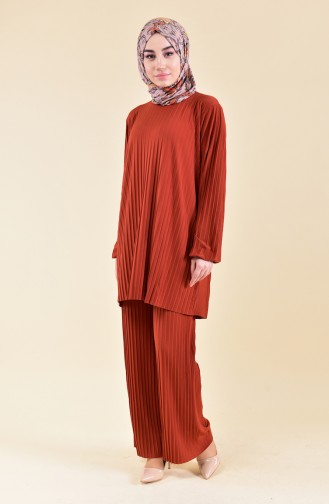 Pleated Tunic Pants Binary Suit  189912-10 Tile 189912-10